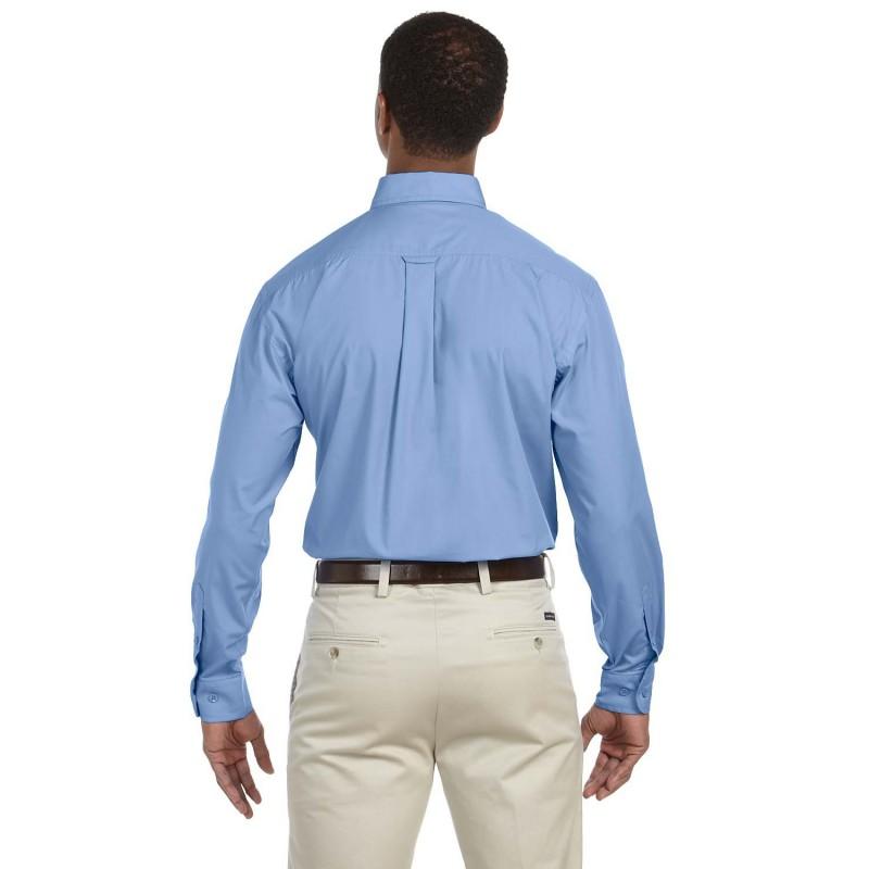M510T Harriton Men/'s Left Chest Pocket Two Button Adjustable Cuffs Dress Shirt
